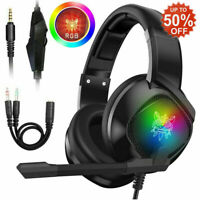 3.5mm Gaming Headset with Mic LED Headphones for PC PS4 Xbox One Nintendo Switch