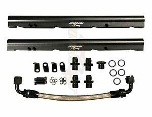 Billet OE LS Fuel Rail Kit For GM Stock Intake Manifold LS1 LS2 LS6 V8 EFI AN8