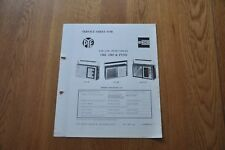 Pye Ecko 1382 1385 PT312 FM AM Transistor Radios Genuine Service Sheet Manual