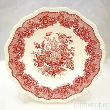 "Masons ASCOT PINK RED Rimmed Soup Bowl 9"" x 1 1/2"""