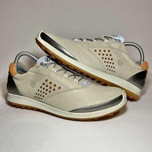 ECCO Ladies Golf BIOM Hybrid 2 Spikeless Yak Leather Golf Shoes Size EU 41 US 10
