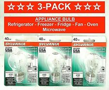 3-Pk Appliance Light Bulb Refrigerator Freezer Oven Microwave Fridge Fan A15 40W