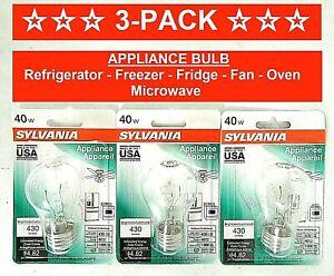 3-Pk Appliance Light Bulb Refrigerator Freezer Oven Microwave Fridge Fan A15 40W