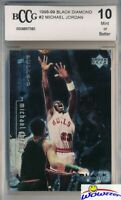 1998/99 Upper Deck Black Diamond #2 Michael Jordan BECKETT 10 MINT Bulls HOF