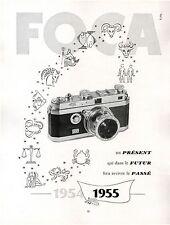 ▬► PUBLICITE ADVERTISING AD appareil photo FOCA 1954