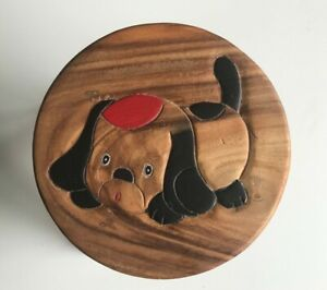 Childrens/Childs/Kids Wooden Stool - Dog