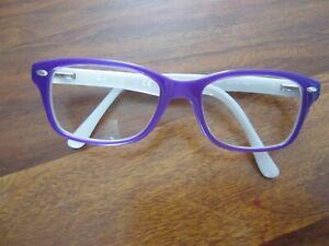 Kids Rayban Eyeglasses Frames Purple / White RB 1531 3591 48 16 130