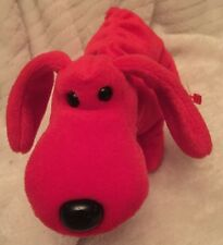 TY Retired Beanie Baby Rare Rover, Style 4101, PVC Pellets with Errors