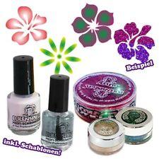 Glitter-Tattooset für Mädchen, Blumenmotive, Glitzer, Schablonen...
