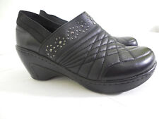J-41 Adventure On shoes womens size 9.5M Venice black leather clogs quilted
