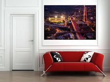 Fenway Park From above at night Canvas Print - Large 36 x 24 Boston Red Sox