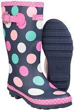 Cotswold Dotty Rubber Boots Kids Girls Waterproof Wellingtons Wellies UK8-5