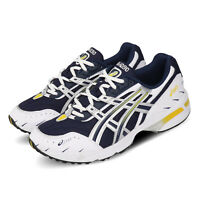 Asics Gel-1090 Navy Silver Yellow Mens Retro Running Shoes 1021A275-400