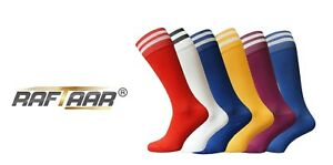 Raftaar® 2 Stripe Unisex Football Rugby Soccer Running Sport Socks 3 Sizes Lot