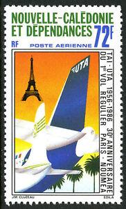 New Caledonia C207, MNH. Paris-Noumea Scheduled Flights, 30th anniv.Planes, 1986
