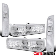 For 1997-2001 Jeep Cherokee Clear Corner Turn Signal Lights+Bumper Lamps Pair