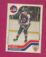 RARE 1983-84 JETS DALE HAWERCHUK  VACHON FOOD NRMT  CARD