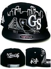 988aca7b0ce6db Golden State New GS Skyline 3 Bridge Warriors Black White Era Snapback Hat  Cap