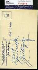 JACK DEMPSEY JSA COA Autograph Postcard Hand Signed Authentic