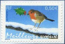 """TIMBRE FRANCE AUTOADHÉSIF 2003 N° 0037NEUF** """"Meillleurs voeux"""" Rouge (3622)"""