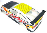 12316 1/10 Scale Drift Touring Body Cover Shell RC White Cut with Spoiler