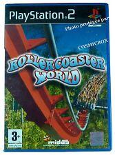 ROLLERCOASTER WORLD jeu de montagnes Russe console SONY PlayStation 2 PS2 testé