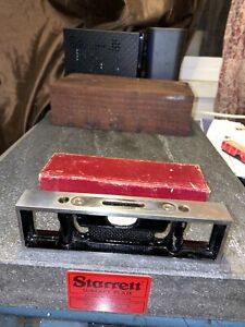 Starrett No.132-6'' Machinist Bench Level With Main Vial & Double Plumbs
