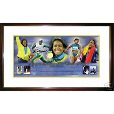 CATHY FREEMAN GOLD MEDALLIST SIGNED FRAMED SPORTSPRINT 2000 SYDNEY OLYMPICS
