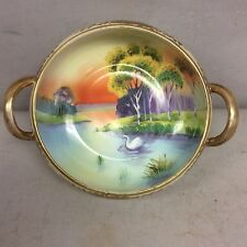 """Japanese Nippon Bowl Hand Painted  6.5"""""""