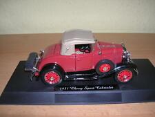 NewRay Chevy Chevrolet Sport Cabriolet Bj. 1931 rot red 1:32 Modellbahn Spur 1