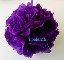 """6"""" Flower Kissing Ball Wedding Silk Rose Party Pomander - 20 Colors available"""