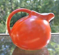 Vintage Small Orange Unmarked  Creamer/Pitcher