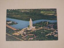 Vintage Linen Postcard Air View of Capitol Baton Rouge LA