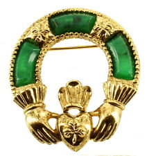 "Vintage Sold'or Miracle Celtic Irish Ireland Claddaugh Pin 1 3/4"" x 1 1/2"""