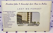 John F Kennedy Last Hour in Dallas Postcards Love Field Parkland Book Depository