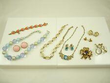 Nice Mixed Lot of Vintage CORO Jewelry Necklaces Brooch Bracelet Earrings