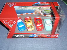 Disney Cars 2 RACING 4-PACK Raoul Miguel McQueen & Denise Beam Carla OPENERS