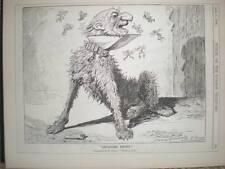 Gladstone Catching Votes (or Fleas) as dog cartoon 1893