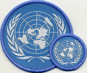 United Nations Circular Badge Patch 71mm or 36mm Diameter UK Manufactured
