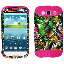 Pink Impact Cover Tree Leaves Camo Hard Case for Samsung Galaxy S 3 III S3 i9300