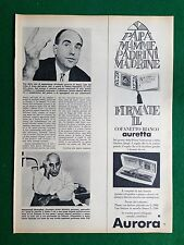 PV25 Pubblicità Advertising Clipping (1968) 38x28 cm - AURETTA PENNA AURORA
