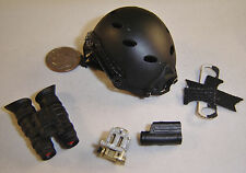very hot cqb black helmet 1/6 toys Miniature dragon soldier story bbi gi joe dam