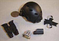 very hot cqb black helmet 1/6 toys Miniature dragon soldier story bbi gi joe dam