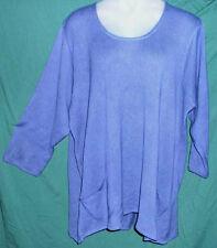 NEW Making it Big Sz 5X (H) Lapis Blue Trapeze Pullover Sweater Fits 34W-36W