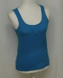 JUNIOR WOMAN PEACOCK BLUE FITTED TANK TOP DANSKIN NOW SIZE SMALL 4-6 COTTON