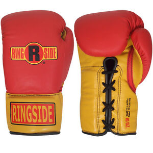 Ringside Boxing Ultimate Pro Fight Gloves - Red / Gold