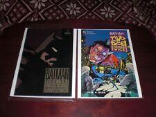 BATMAN YEAR ONE VF 1988 & BATMAN :TWO FACE STRIKES TWICE  NM-  TBP 1993  DC