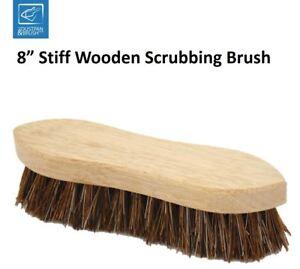 Heavy Duty Traditional Stiff Wooden Scrubbing Brush Hand Deck Scrub Brush