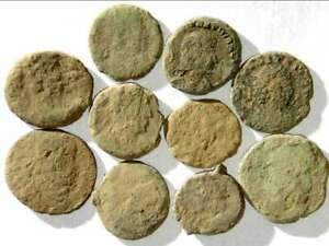IVLLA 10 Ancient Roman Coins Uncleaned and As Found X01807