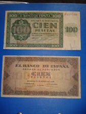 SPAIN SET LOTE 100 PESETAS BURGOS 1936 Y 1938 CIRCULADOS SERIES P/D